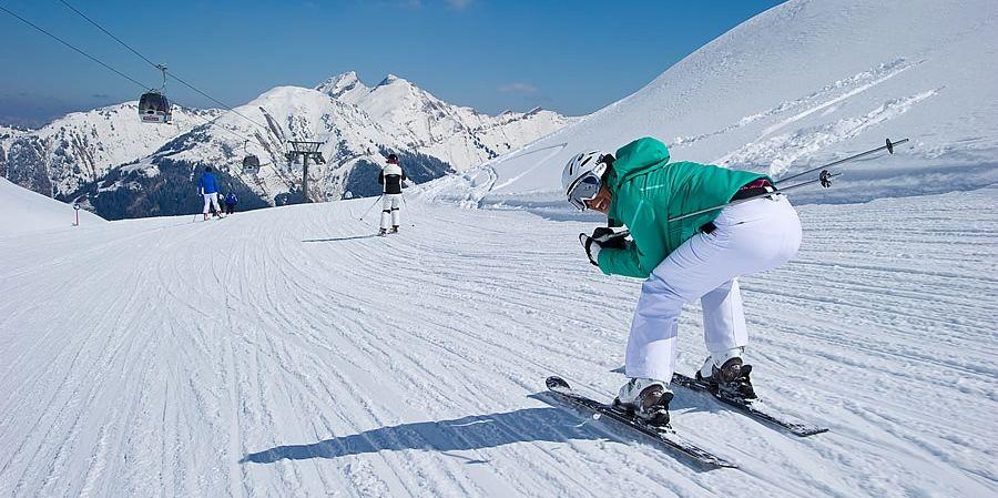 Learn to ski slider